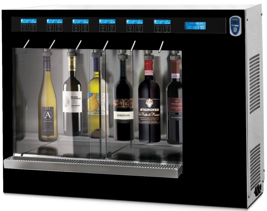 ancien mod le distributeur de vin au verre mono temp rature 6 bouteilles avec syst me de. Black Bedroom Furniture Sets. Home Design Ideas
