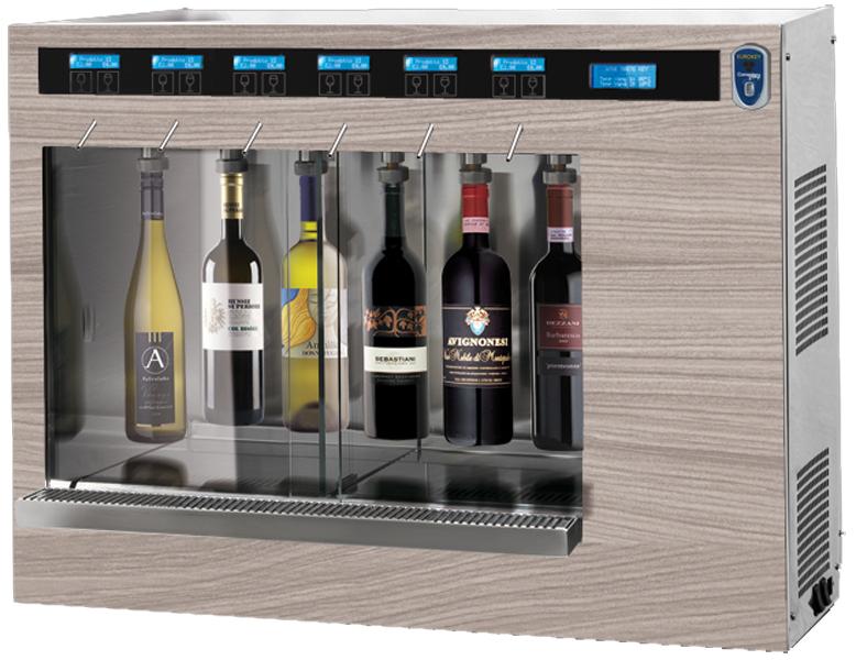 ancien mod le distributeur de vin au verre mono temp 6 blles version self service syst me. Black Bedroom Furniture Sets. Home Design Ideas