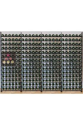 biblioth que m tallique pour 336 bouteilles de vin l. Black Bedroom Furniture Sets. Home Design Ideas