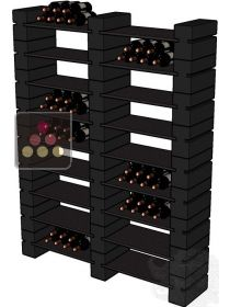 anciens mod les de rangement de bouteilles rack in black ma cave vin. Black Bedroom Furniture Sets. Home Design Ideas