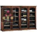 Combination of 4 single temperature wine cabinets for service or storage  ACI-CAL429