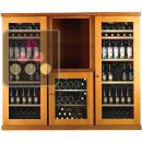 Combination of 3 Single temperature wine cabinets for storage or service ACI-CAL435