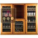 Combiné de 3 caves à vin mono-température de conservation ou de service ACI-CAL435