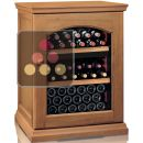 Dual temperature wine cabinet for service and storage ACI-CAL401