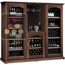 Combination of 3 multi temperature wine cabinets for service & storgage + home wine bar ACI-CAL428