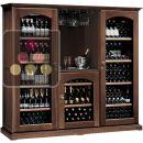 Combiné de 3 caves à vin Multi-Températures de service et de conservation + bar à vin ACI-CAL428