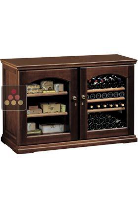 ancien mod le combin de cave vin mono temp rature de conservation ou de serviuce et d 39 une. Black Bedroom Furniture Sets. Home Design Ideas
