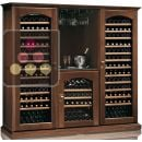 Combination of 3 Single temperature wine cabinets for storage or service ACI-CAL427TC