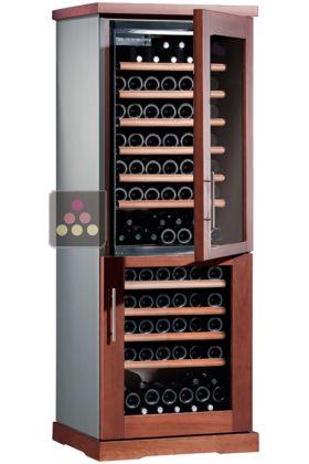 20 de r duction combin de 2 caves vin mono temp rature de conservation et de service. Black Bedroom Furniture Sets. Home Design Ideas