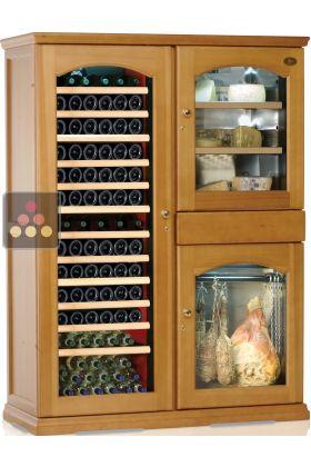 combin gourmand cave vin mono temp rature cave fromage et cave charcuterie calice aci. Black Bedroom Furniture Sets. Home Design Ideas