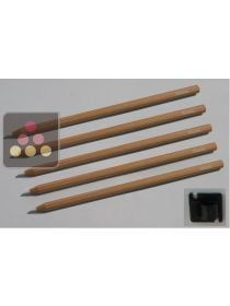 Lot de 5 crayons craie + 1 Support ARTEVINO