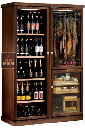 combin gourmand cave vin cave charcuterie et cave. Black Bedroom Furniture Sets. Home Design Ideas