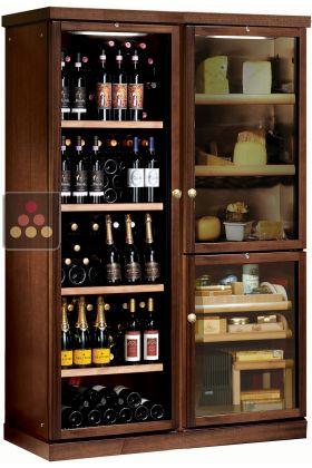 combin gourmand cave vin de service cave fromages. Black Bedroom Furniture Sets. Home Design Ideas