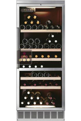 Cave vin mono temp rature de conservation ou de service encastrable calice - Temperature conservation vin ...