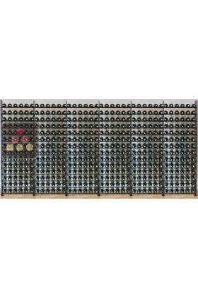 biblioth que m tallique pour 504 bouteilles de vin l. Black Bedroom Furniture Sets. Home Design Ideas
