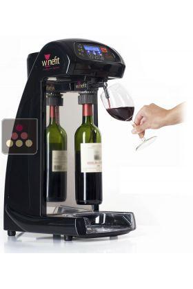 distributeur de vin au verre pour bouteilles de 75cl et magnums 4 bouchons 2 bouteilles d. Black Bedroom Furniture Sets. Home Design Ideas