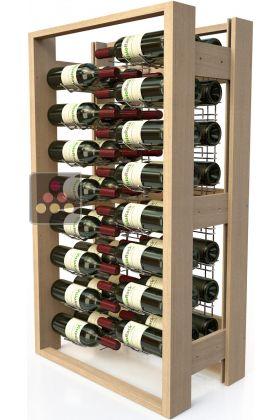 meuble de rangement en bois pour 48 bouteilles visiorack. Black Bedroom Furniture Sets. Home Design Ideas