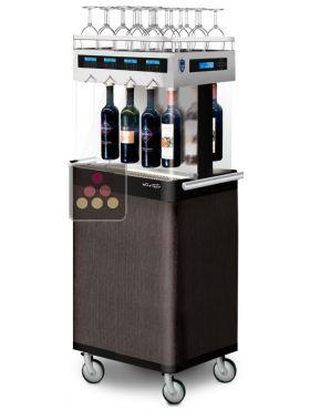 distributeur de vin au verre 8 bouteilles self service avec syst me de conservation wine taste. Black Bedroom Furniture Sets. Home Design Ideas