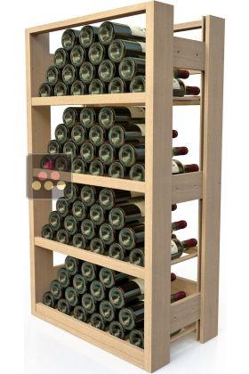 meuble de rangement en bois pour 72 bouteilles visiorack aci vis302 ma cave vin. Black Bedroom Furniture Sets. Home Design Ideas