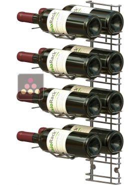 support mural de 8 bouteilles de 75cl en position horizontale visiorack aci vis400 ma cave vin. Black Bedroom Furniture Sets. Home Design Ideas
