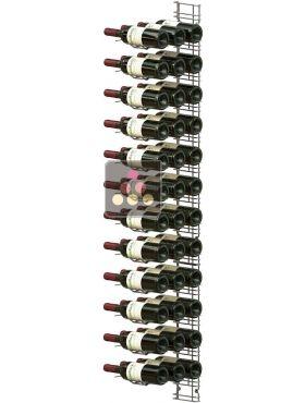 support mural de 36 bouteilles de 75cl en position horizontale visiorack aci vis410 ma cave vin. Black Bedroom Furniture Sets. Home Design Ideas