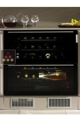 cave vin de service tiroirs 2 temp ratures. Black Bedroom Furniture Sets. Home Design Ideas