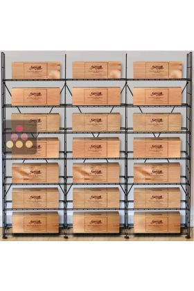 ancien mod le solution de rangement pour 21 caisses de vins l 39 atelier du vin ma cave vin. Black Bedroom Furniture Sets. Home Design Ideas