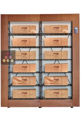 ancien mod le biblioth que intelligente pour 12 caisses de vin l 39 atelier du vin ma cave vin. Black Bedroom Furniture Sets. Home Design Ideas