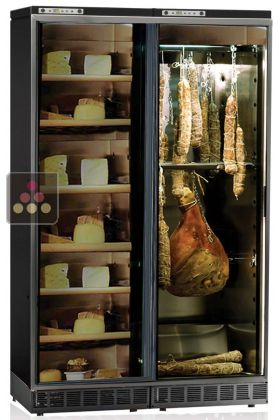 combin d 39 une cave charcuterie et d 39 une cave fromage encastrables jusqu 39 180 kg calice aci. Black Bedroom Furniture Sets. Home Design Ideas