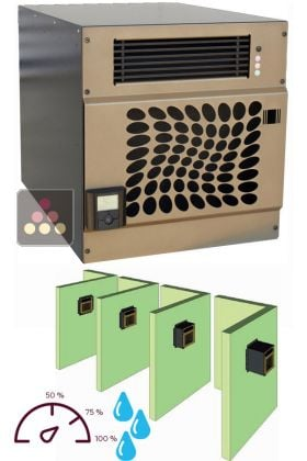 climatiseur de cave jusqu 39 30m3 avec humidificateur et fonction chauffage travers e de mur. Black Bedroom Furniture Sets. Home Design Ideas
