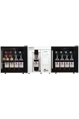 distributeur de vin au verre 2 temp ratures pour 20 bouteilles de 75cl et magnums winefit aci. Black Bedroom Furniture Sets. Home Design Ideas