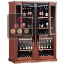 Combination of 4 single temperature wine cabinets for service or storage  ACI-CAL553