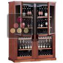 Combiné de 4 caves à vin mono-température de conservation ou de service ACI-CAL553