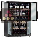 Combination of 4 single temperature wine cabinets for service or storage - free standing or built in  ACI-CAL552E