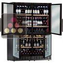Combiné de 4 caves à vin mono-température de conservation ou de service - Pose libre ou encastrable ACI-CAL552E