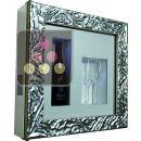 Cadre à Champagne Design et Silencieux mono-température pour 1 bouteille et 2 verres ACI-QVC109