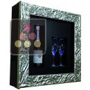 Single temperature silent refrigerated Champagne stand  for 1 bottle and 2 glasses ACI-QVC159