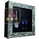 Cadre à Champagne Design et Silencieux mono-température pour 1 bouteille et 2 verres ACI-QVC159