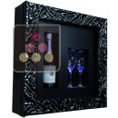 Single temperature silent refrigerated Champagne stand  for 1 bottle and 2 glasses ACI-QVC160