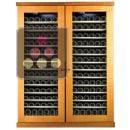 Combiné de 2 caves à vin mono-température de conservation et de service ACI-CAL441TC