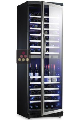 Cave vin multi usages 2 temp ratures de conservation et ou de service domet - Temperature cave a vin conservation ...