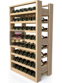 meuble de rangement en bois pour 48 bouteilles visiorack