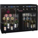 Distributeur de vin au verre 2 Températures 8 bouteilles avec système de conservation ACI-SOM101