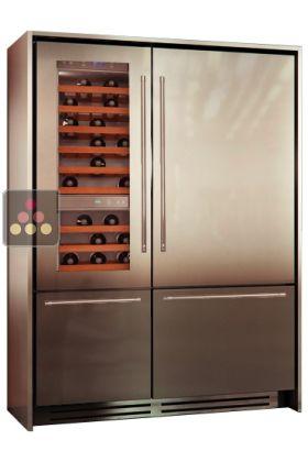 ancien mod le combin cave vin r frig rateur et double compartiment tri modes design. Black Bedroom Furniture Sets. Home Design Ideas