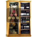 Combination of a Multi-temperature Wine Cabinet and a Single Temperature Delicatessen Cabinet ACI-CAL748P
