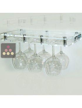porte verre suspendu en plexiglas transparent 6 verres. Black Bedroom Furniture Sets. Home Design Ideas