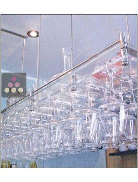 Porte verre suspendu en plexiglas transparent 50 verres sobrio aci sbr410 - Porte verre suspendu bar ...