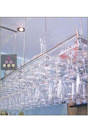 porte verre suspendu en plexiglas transparent 50 verres sobrio aci sbr410 ma cave vin. Black Bedroom Furniture Sets. Home Design Ideas