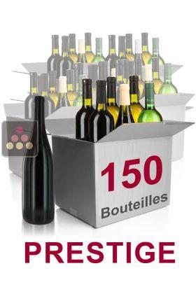150 bouteilles de vin s lection prestige vins blancs. Black Bedroom Furniture Sets. Home Design Ideas