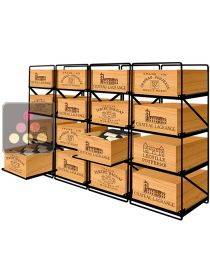 rangement vin casier bouteille rangements modulaires ou muraux ma cave vin. Black Bedroom Furniture Sets. Home Design Ideas